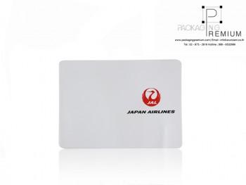 ปกหุ้มหนังสือ Japan airline สีขาว