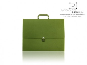 แฟ้มกล่องเอกสาร สีเขียวชา