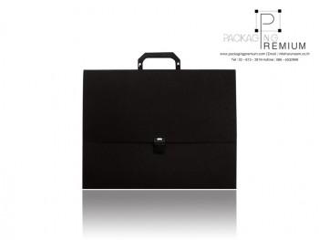 กระเป๋าเอกสารพลาสติก สีดำ