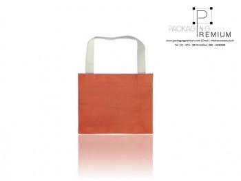 ถุงผ้าสปันบอนด์ สีส้มสดขนาด 25x20x6x6 cm.