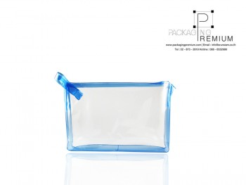 กระเป๋าซิปด้านข้างสีน้ำเงิน